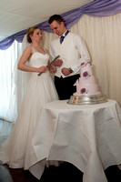 The Wedding breakfast -Cutting the cake - Speeches. Andrew & Leanne. Photographs by Robb Webb Photography-9