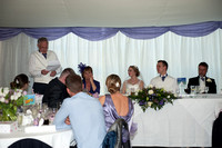 The Wedding breakfast -Cutting the cake - Speeches. Andrew & Leanne. Photographs by Robb Webb Photography-11
