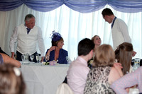 The Wedding breakfast -Cutting the cake - Speeches. Andrew & Leanne. Photographs by Robb Webb Photography-14