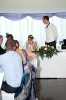 The Wedding breakfast -Cutting the cake - Speeches. Andrew & Leanne. Photographs by Robb Webb Photography-20